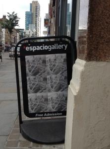 Espacio Gallery CLFA sign