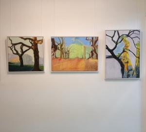 Karen Pollock - paintings at Espacio Gallery, July 2015