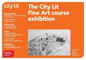 CLFA course exhibition flyer