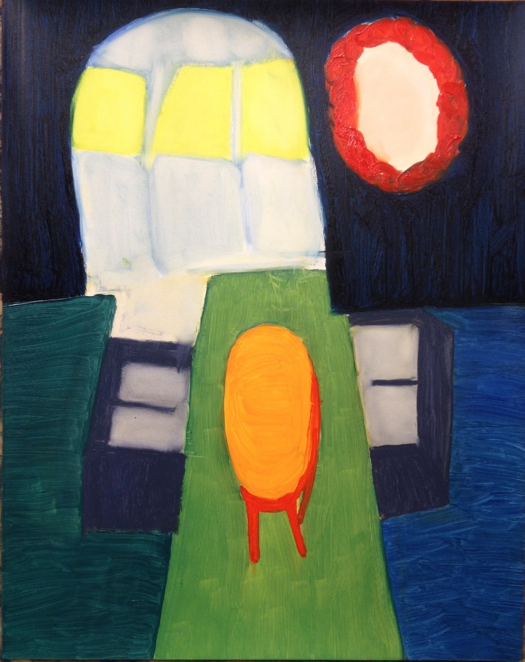 Sundays (2015), oil on paper, 50.8cm x 40.6cm