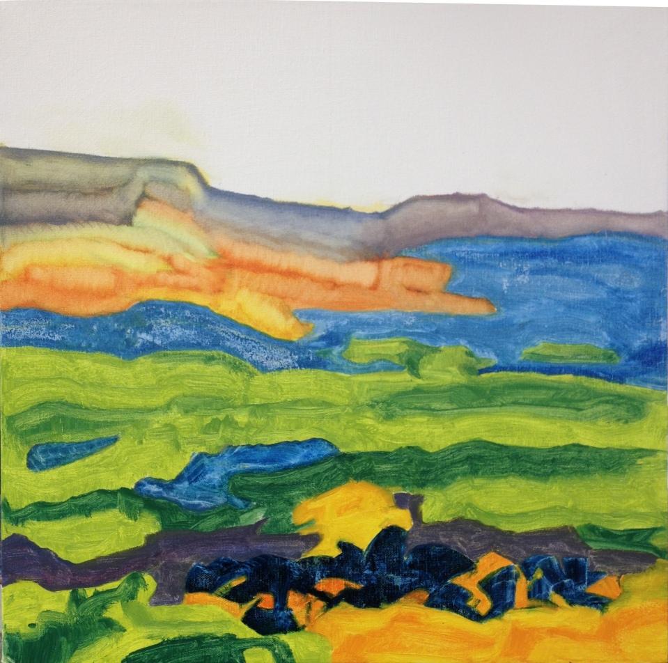 The Estuary (2016) oil on canvas, 50cm x 50cm
