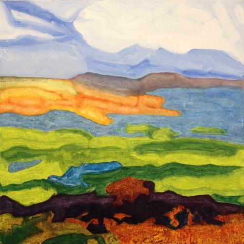 Thames Estuary (2016) oil on canvas, 50cm x 50cm: finished