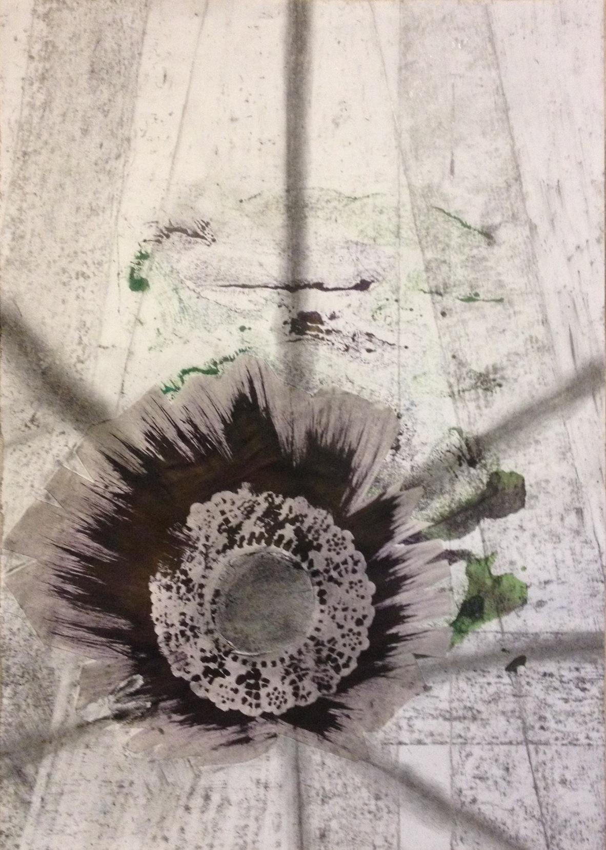 Hidden landscape (2016) mixed media on paper