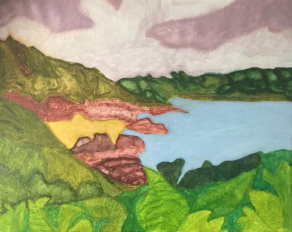 Moulin Huet Bay (2019) oil on canvas