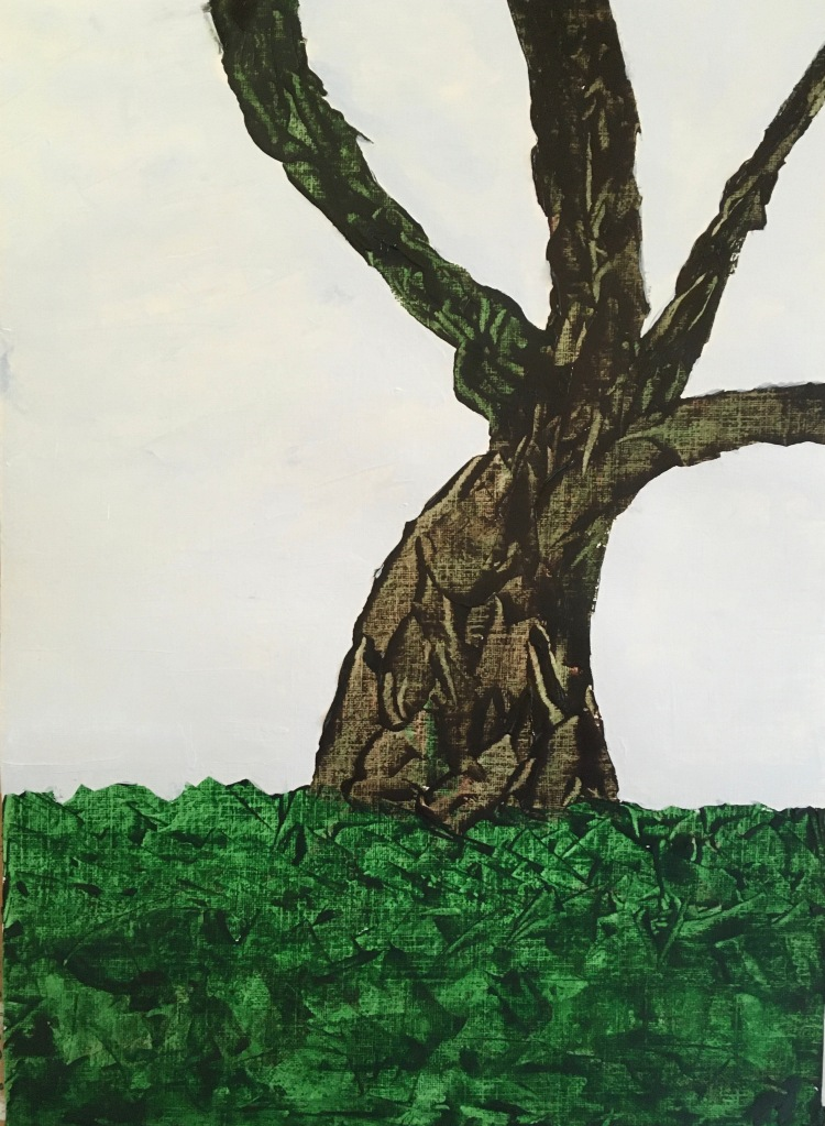 Tree in winter (2021) acrylic on paper